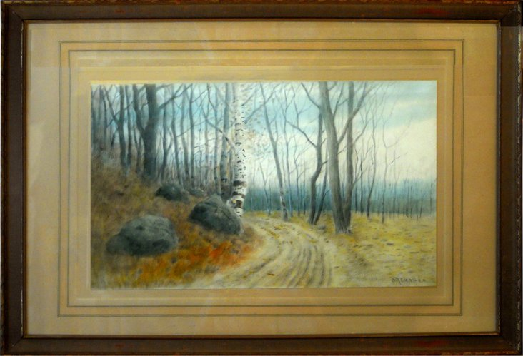 Autumn Watercolor by S. R. Chaffee
