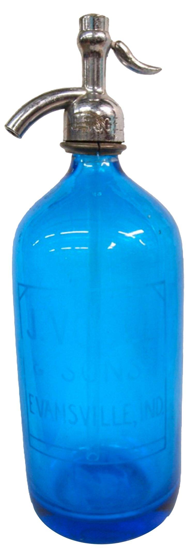 1930s Cobalt Seltzer Bottle