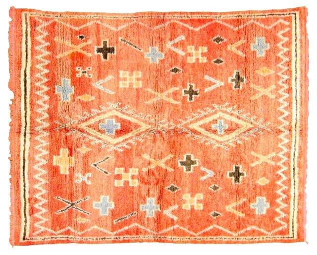 "Moroccan Rug, 7'10"" x 6'4"""