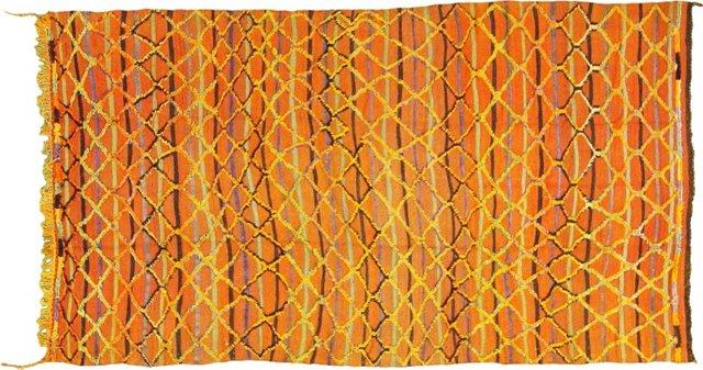 "Rust Red Moroccan Carpet, 9'1"" x 5'"