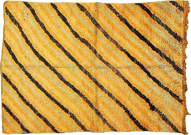 "Striped Moroccan Rug, 4'4"" x 6'1"""