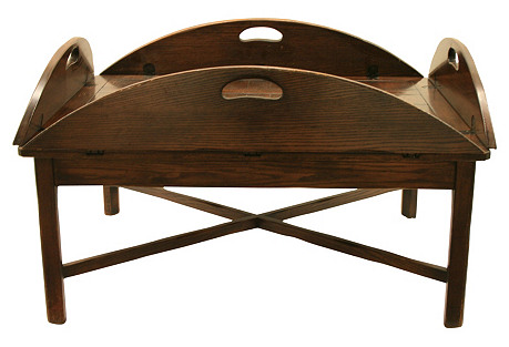 Large English Butler's Tray Coffee Table