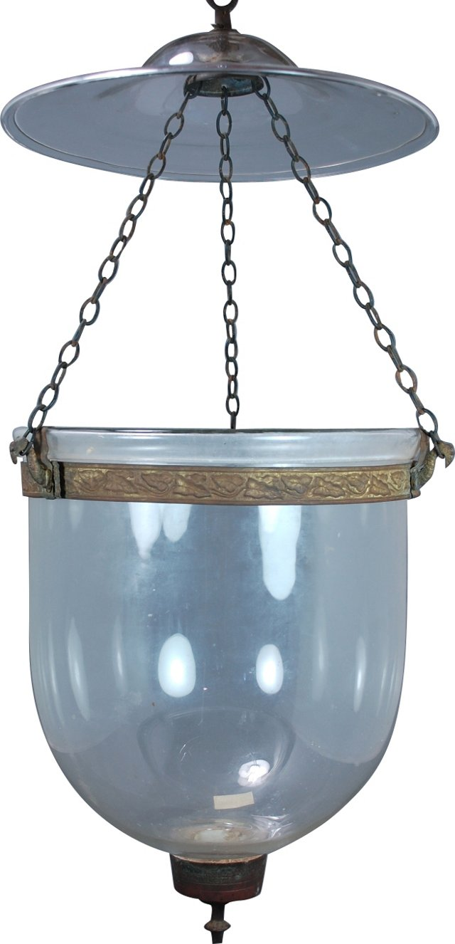 Clear Indian Bell Jar Pendant