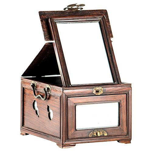 Antique Zitan Wood Cosmetic Box