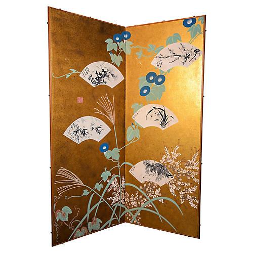Gold Foil Wall Screen