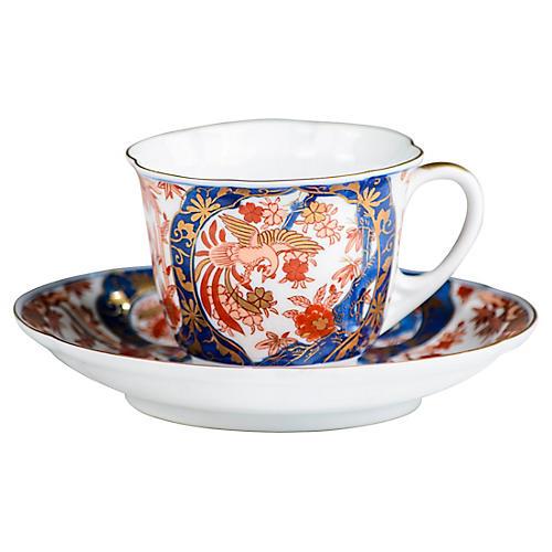 Gold Imari Teacup & Saucer