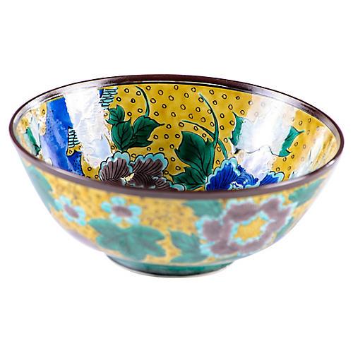 Japanese Kutani Handmade Porcelain Bowl