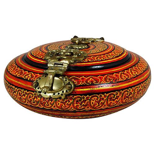 Indian Round Malabar Dowry Box