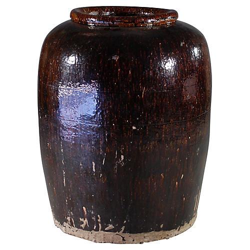 Oversize Indian Earthenware Storage Jar