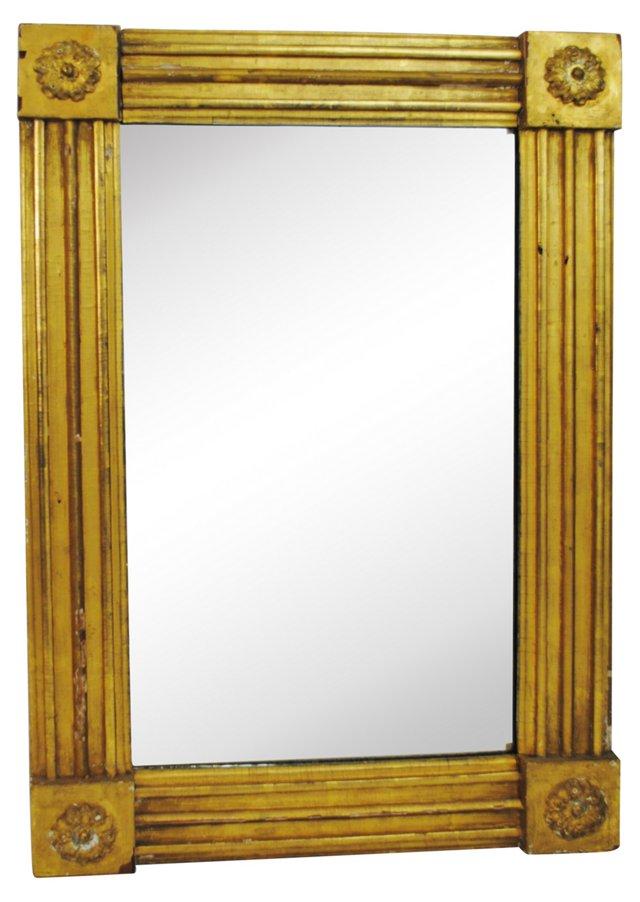Antique Italian Gold Mirror w/ Florets