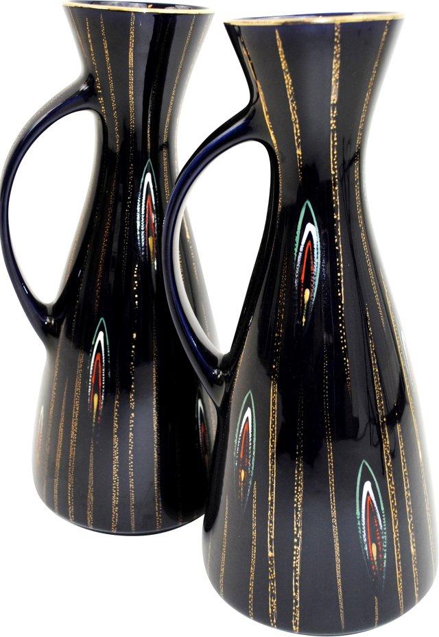 Ceramic Pitchers, Pair
