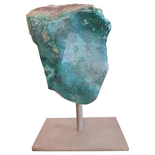 Large Mounted Stone w/ Malachite