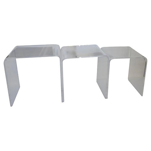 Lucite Nesting Tables, S/3