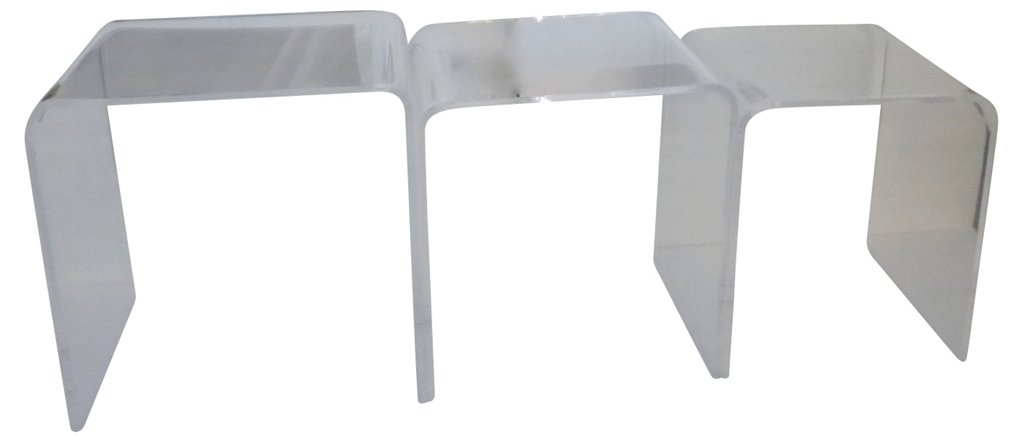 Lucite nesting tables s3 nesting tables side tables living lucite nesting tables s3 nesting tables side tables living room furniture one kings lane watchthetrailerfo