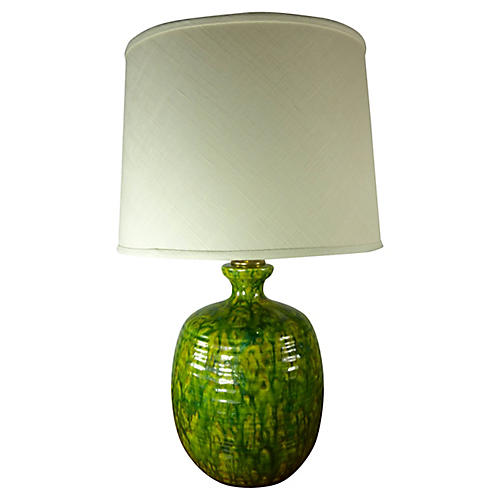 Midcentury Table Lamp w/ Custom Shade