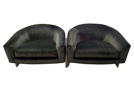 Milo Baughman Chairs, Pair