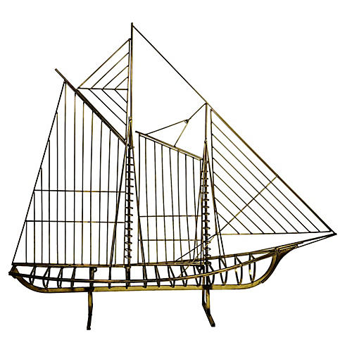 Brass Ship by Jeré, 1976
