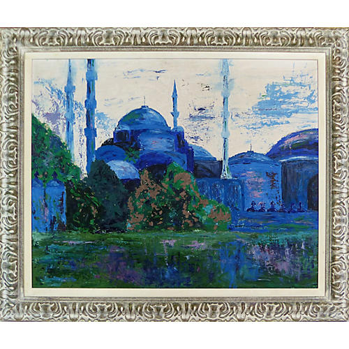 Blue Mosque Abstract