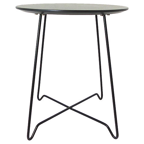 Bent Wire Side Table w/ Wood Top