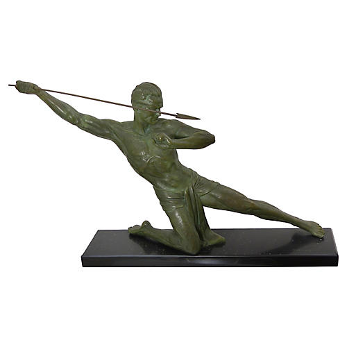 Art Deco French Bronze by Jean De Roncou