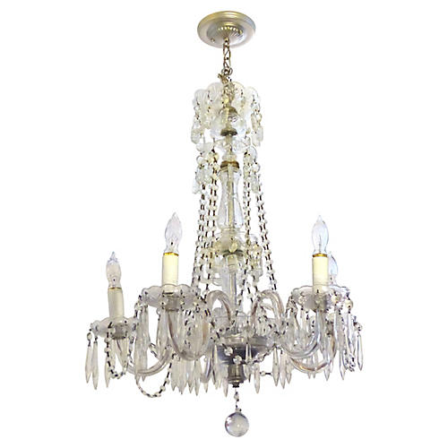 Five Light Crystal Glass Chandelier