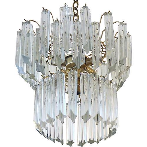 Venini 2-Tier Glass Chandelier