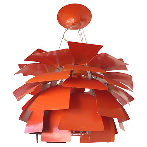 Orange Artichoke Chandelier