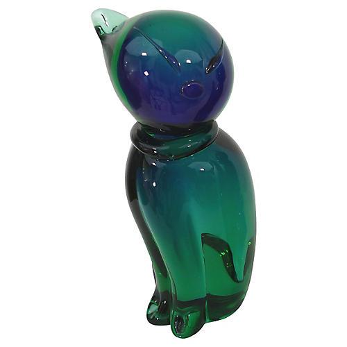 Formia Murano Glass Cat