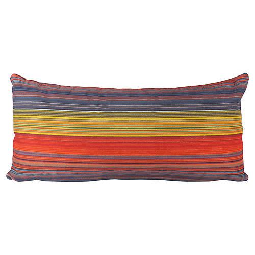 Striped Velvet Kidney Pillow