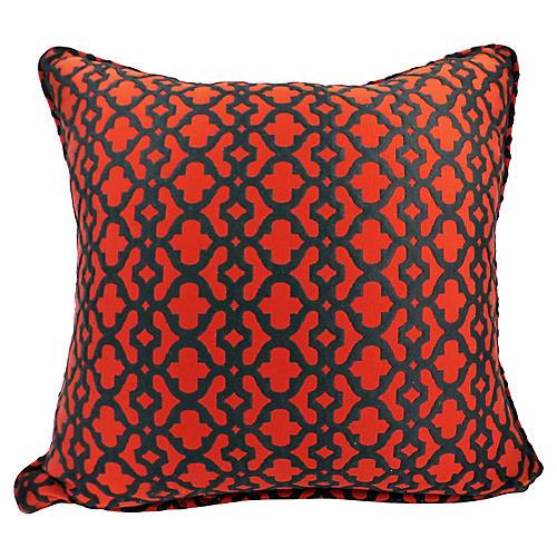 Red & Black Lattice Pillow