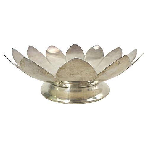 Leonard Silver-Plate Lotus Flower Dish