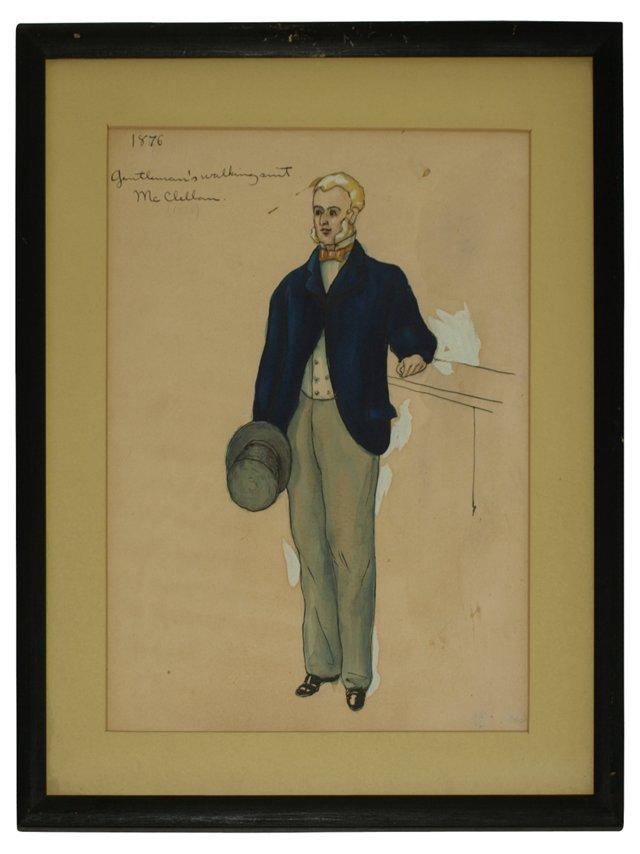 Gentleman's Walking Suit, 1876
