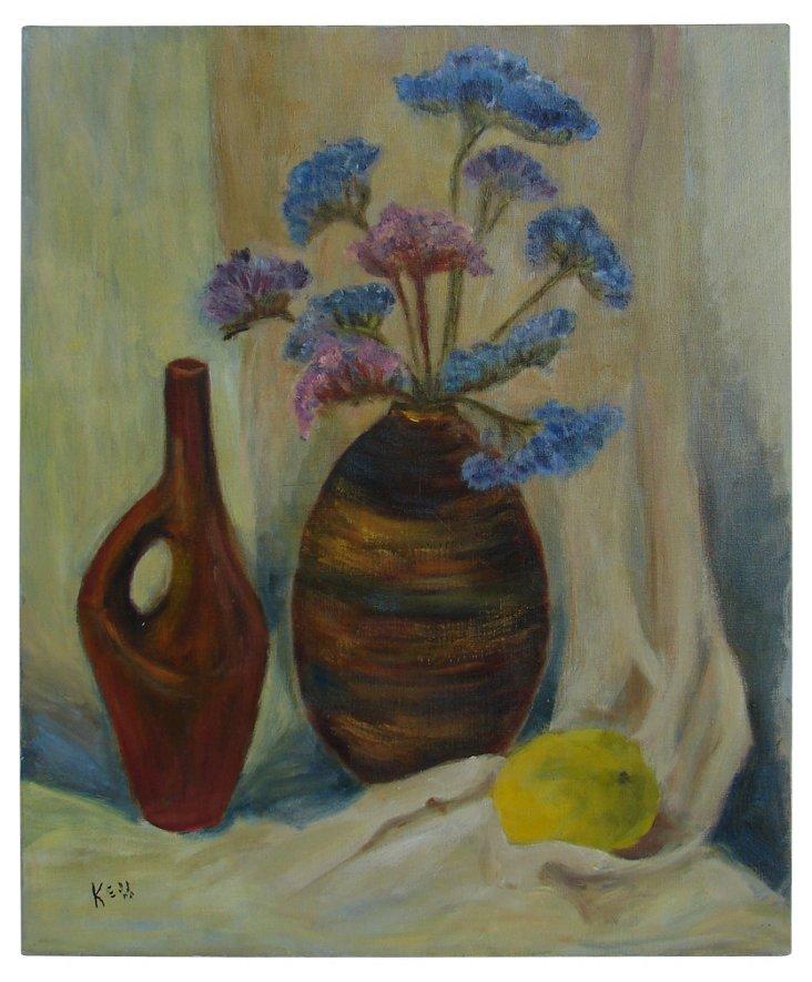 Still Life w/ Flowers & Fruit