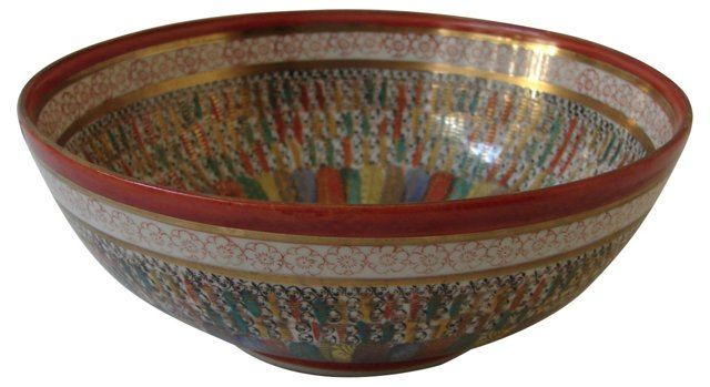 Japanese Kutani Porcelain Bowl