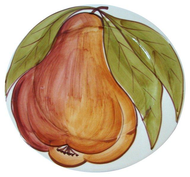 Hand-Painted Italian Pear Dish