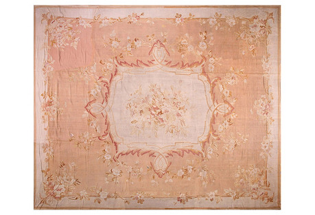 French Aubusson Rug, 15'1