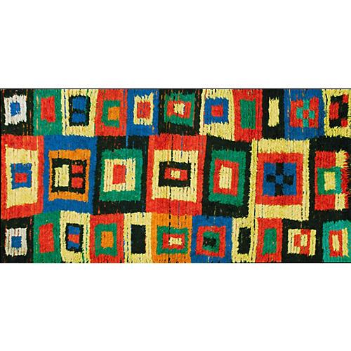 """Moroccan Boucherouite Rug, 4'10"""" x 9'3"""""""