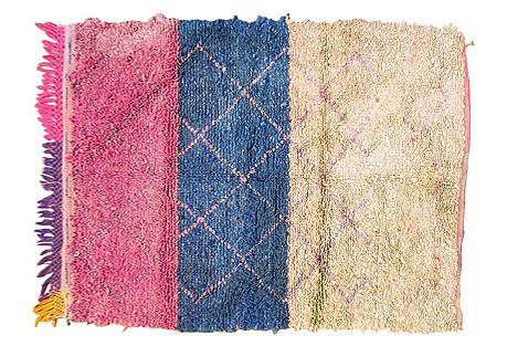 Moroccan Boucherouitte Rug, 3'9