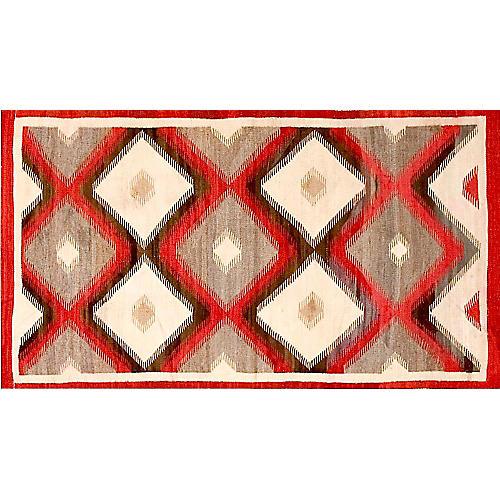 "Navajo-Style Rug, 3' x 5'6"""