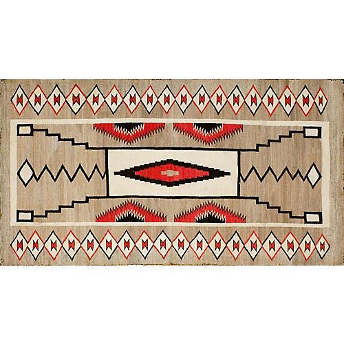 "Navajo-Style Rug, 3'0 x 5'7"""