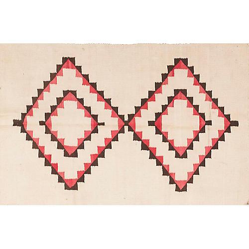 "Navajo-Style Rug, 3' x 4'6"""