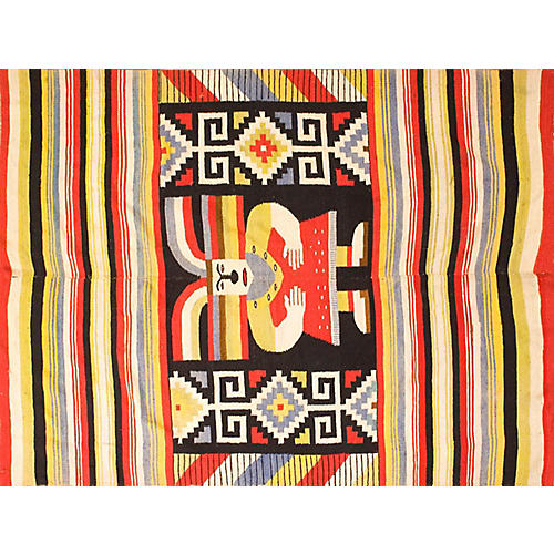 """Mexican Rug, 4'4"""" x 6'2"""""""
