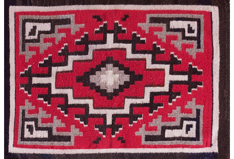 Antique Navajo-Style Rug, 2'2