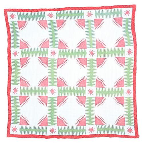 Handmade Quilt, 6' x 6'