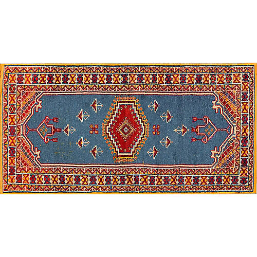 "Moroccan Rug, 3'4"" x 6'6"""