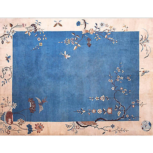 """Chinese Art Deco-Style Rug, 9' x 11'10"""""""