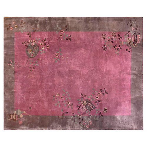 """Chinese Art Deco-Style Rug, 9'2"""" x 11'"""