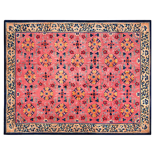 """Chinese Art Deco-Style Rug, 9'2"""" x 11'9"""""""