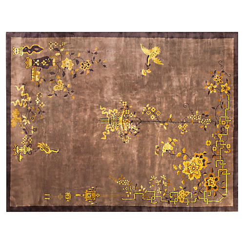 "Chinese Art Deco Rug, 8'10"" x 11'6"""