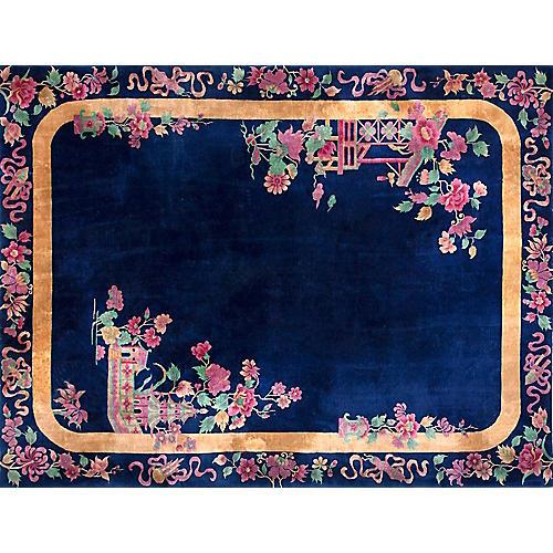 "Chinese Art Deco Rug, 9' x 11'6"""